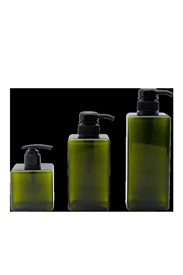 Пластиковая квадратная бутылка 250МЛ 450МЛ 650МЛ для насоса мыла лосьона